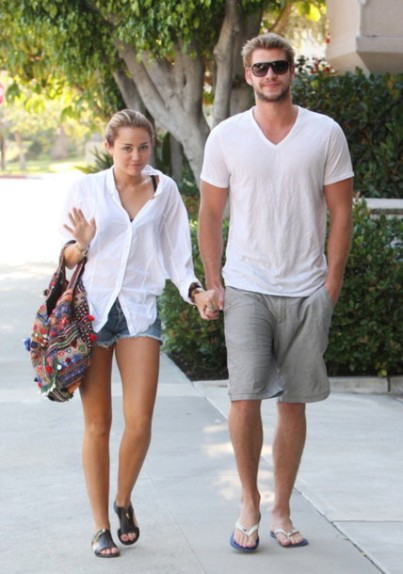 miley and liam white shirt